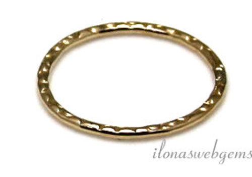 Goldfilled geschlossene Auge / Ring verziert ca. 14x1mm