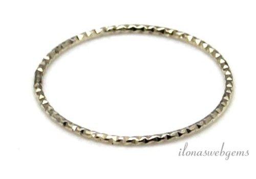 Sterling zilveren gesloten ring bewerkt ca. 21.5x1mm
