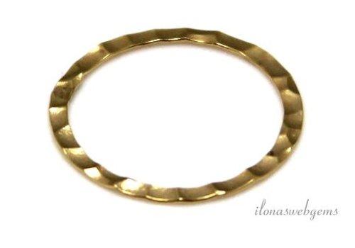 14k/20 Gold filled gesloten oog/ring hammered ca. 17x0.3mm