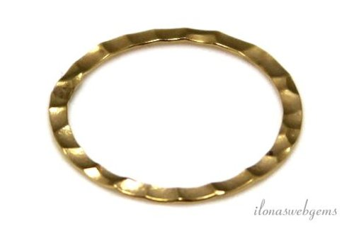 Goldfilled closed eye / ring hammered about 17x0.3mm