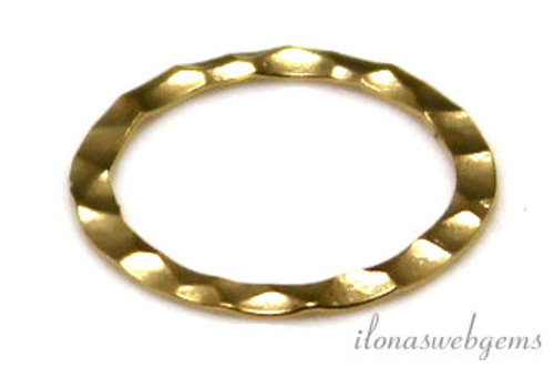 Goldfilled closed eye / ring hammered about 13x0.3mm