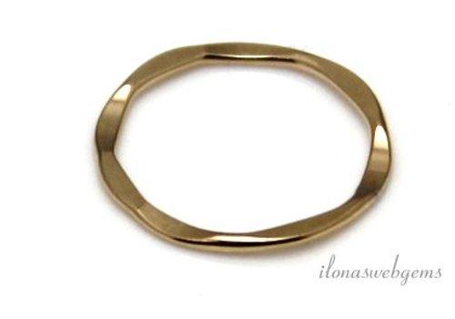 Goldfilled geschlossene Auge / Ring um 15x1mm