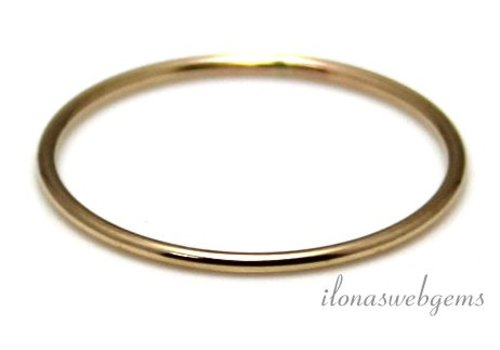 Goldfilled closed eye / ring around 21x1mm