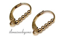 1 Paar 14 Karat Gold Ohrhaken