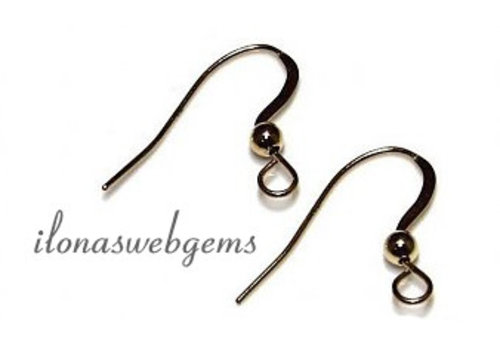 1 pair 14 carat golden Ear Hooks app. 20x14mm