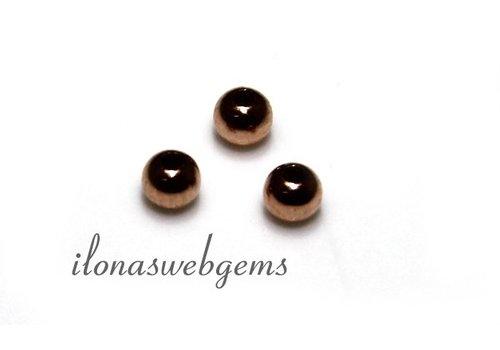 14 Karat Rosé goldene Perle ca. 2mm leicht
