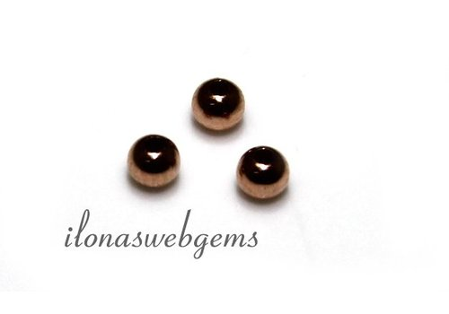 14k Rose gold bead about 3mm