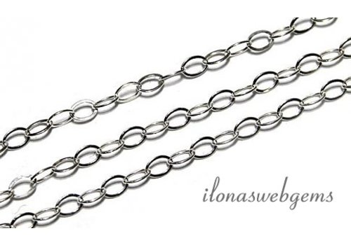 10 cm sterling Silver links / chain app. 1.5mm