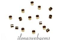 20 stuks Goldfilled knijpkraaltjes ca. 1x1mm