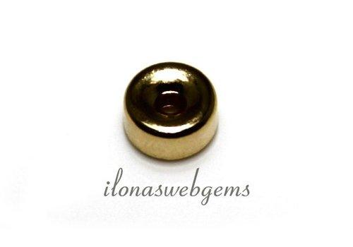 14k/20 Gold filled rondel 7x3.5mm