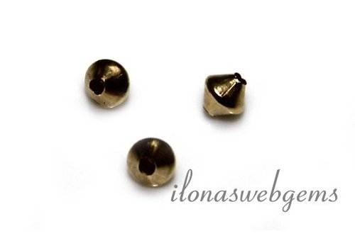 1 pieces Gold filled bicone app. 3mm