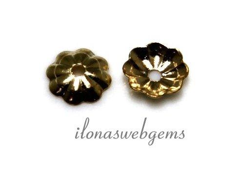 25 pieces 14k / 20 Gold filled bead cap