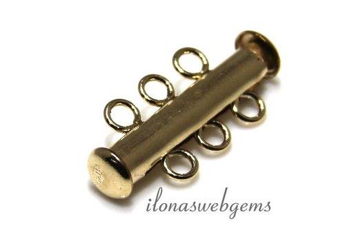 Gold filled magneetslot 3 rij ca. 21x10mm
