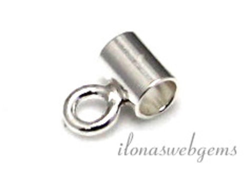 1 Sterling Silver tube bead app. 4x3mm