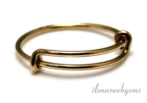 Gold filled ring around 18.5x1mm