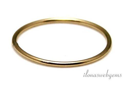 14k/20 Gold filled gesloten oog/ring ca. 17x1mm