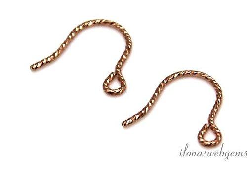 1 Paar Rose Gold gefüllt Ohrhaken minimalistisch
