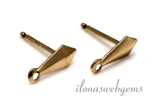 1 Paar Gold gefüllt Ohrringe ohne poussettes