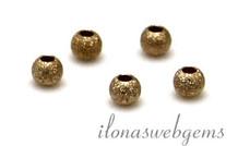 6 Stück Gold gefüllt Perle Staub von etwa 2 mm