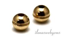 Gold, das gefüllt Perle bearbeitet 5mm