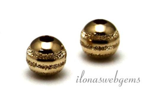 14K / 20 Goldfilled bead bearbeitet ca. 5mm