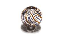 1 stück Murano Glas Perle hol ca. 11mm