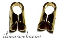 1 stuk Gold plated Eindkapjes voor leer 1.5mm