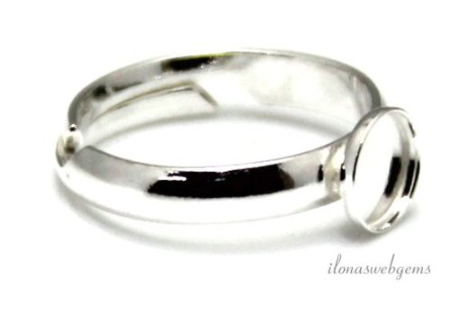 Sterling zilveren ring voor cabochon 6mm
