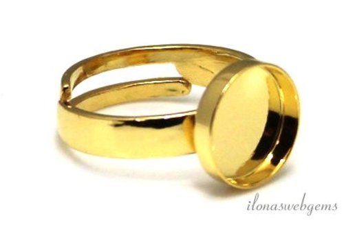 Vermeil ring voor cabochon 10mm