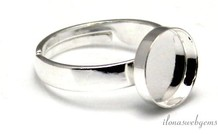 Sterling Silber Ring mit Cabochon 10mm