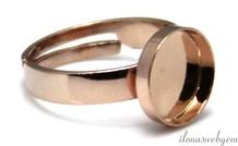 Rose Vermeil Ring Cabochon 10mm