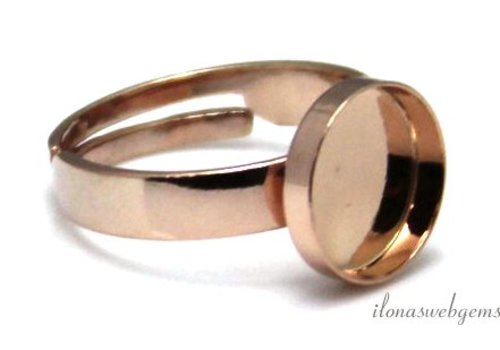 Rose vermeil ring cabochon 10mm