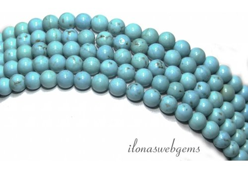 Sleeping beauty Howlite beads about 4.5mm