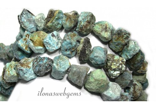 Chrysocolla beads rough approx. 17-23mm