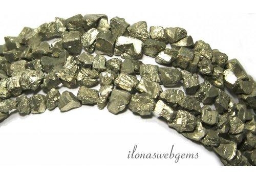 Pyrite beads rough around 5-7mm