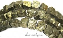 Pyriet kralen vierkant rough ca. 10-12mm