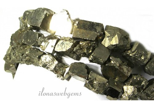 Pyrite beads rough approx. 10-12mm