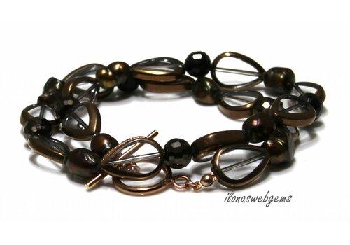Inspiration Halskette: 14 K / 20 Rose Gold gefüllt, Glasperlen, Süßwasserperlen