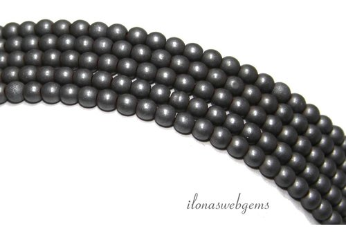 Hematite beads mini round about 3.2mm