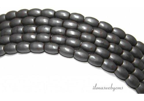 Hematite beads around 5.7x4mm