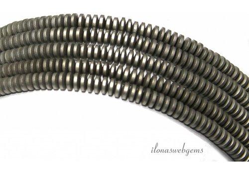 Hematiet kralen discs ca. 4x1.5mm