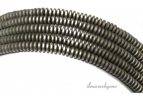 Hematite beads discs approx 4x1.5mm