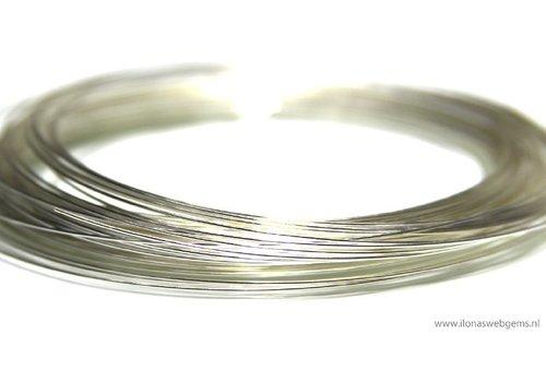1cm sterling zilverdraad zacht ca. 0.3mm / 28GA