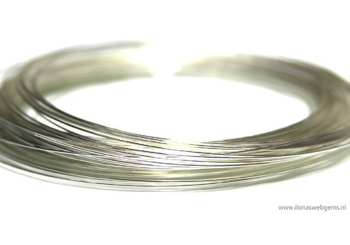 Sterling zilverdraad zacht ca. 0.3mm / 28GA