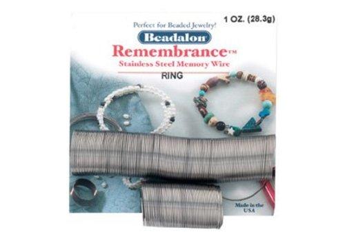 Beadalon Edelstahl Gedächtnisdraht für Ring