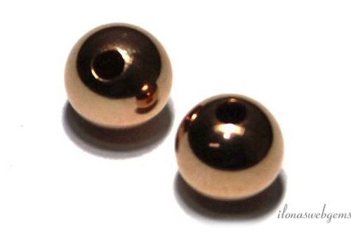 1 Rose Gold Filled spacer / 8mm bead ca.