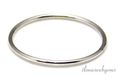 Sterling zilveren gesloten oog/ring ca. 21.5x1mm