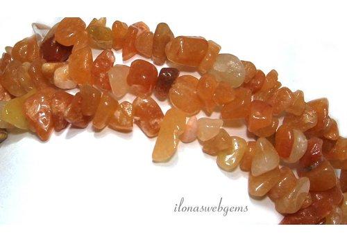 Red Aventurine Perlen gespalten ca. 7,5 mm