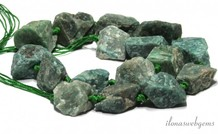 Russian Amazonite Perlen rau um 21x15-27x15mm