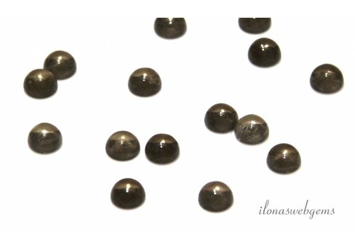 Smoky quartz cabochon 6mm